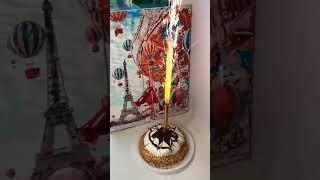 Свеча фонтан в торт 14 см