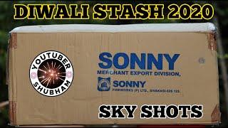 DIWALI STASH 2020 of SKY SHOTS - Sony Fireworks - Green Crackers Stash - Rs.6000
