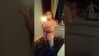 Евочка и бенгальские огни! 6 января 2020 г.