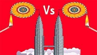 CHAKRI vs PETRONAS TWIN TOWERS | Fireworks Show | Poltu Engineer | Firecrackers Experiment | Diwali