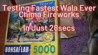 Testing Fastest Wala Ever | 5000 Wala from Chima Fireworks | Crackers Show Time |