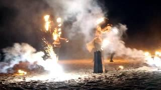 Фейерверк и фаер шоу на свадьбу Скандинавия СПА
