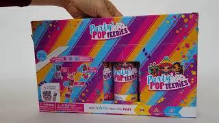 Party pop teenies вечеринка конфети распаковка обзор игрушки хлопушки