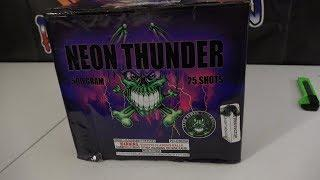 NEON THUNDER - 500G CAKE - PYRO DEMON FIREWORKS