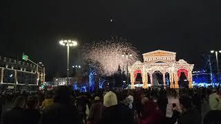 новый год на красной площади 2017 г Мама Сестра  с Русиком  салюты