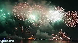Amazing fireworks in JBR-Happy New Year  Dubai 2019