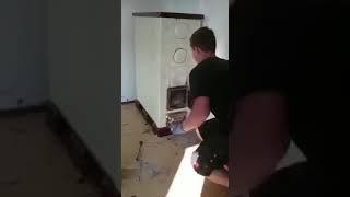 Решили прочистить печку при помощи петарды