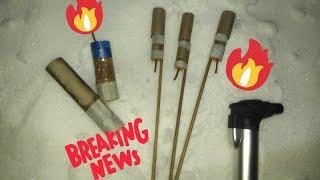 Тест моей пиротехники ночью: фейерверки фаера ракеты
