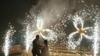 Пиротехнические вертушки и холодные фонтаны на свадьбу, ресторан Империал - Чалтырь