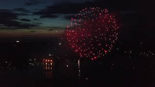 Claytor Lake Fireworks 2018 filmed with the DJI Mavic Pro