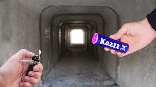 Experiment: Mini Firecrackers inside the Tunnel