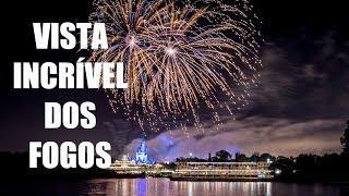 Show de fogos em um barco da Disney - Fireworks Cruise