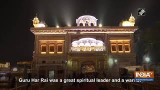 Fireworks at Golden Temple on Gurpurab of Guru Har Rai Sahib