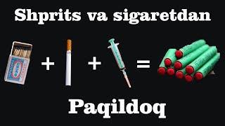 Paqildoq yasash sigaretdan | Petarda yasash