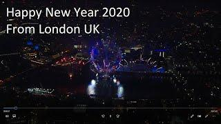 New Years eve 2019 - 2020 Fireworks London UK HD