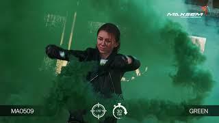 МА0509 Green Цветной дым густой Зеленый 30 секунд