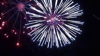 Высотный фейерверк на праздник 177 залпов с дорожкой из фонтанов