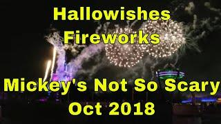 HalloWishes Fireworks at Walt Disney World's Magic Kingdom Oct 2018