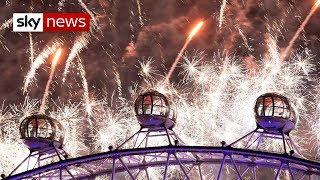 UK celebrates New Year with thousands of fireworks