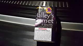 Halleys comet 9 shot cake phantom fireworks demo