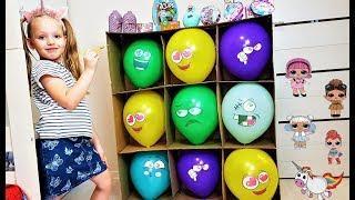 Разноцветные шарики с сюрпризами! Лол сюрприз #6. Куклы. Скрепыши. Лост китис. Видео для детей