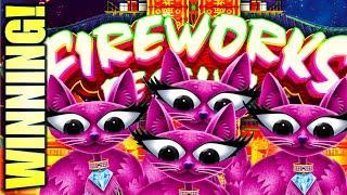 FIREWORKS, FELINES, & A SLOT TRAVELER! FIREWORKS FESTIVAL & MISS KITTY Slot Machine