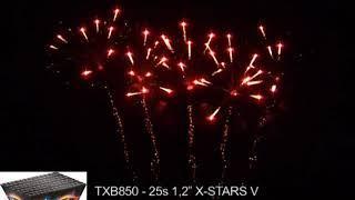 """Fajerwerki TXB850 V X Stars 25s 1 2"""" Triplex"""