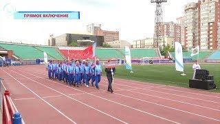 В Новосибирске стартовали межрегиональные соревнования по пожарно-спасательному спорту
