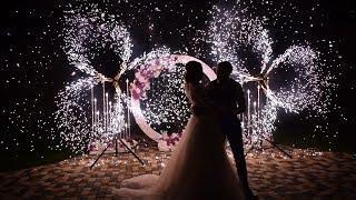 Вертушки холодных фонтанов на свадьбу | Ростов | GOF show