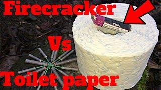 P2000 firecracker vs toilet paper petarda/петарды