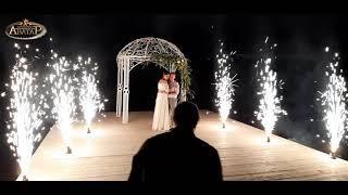 AS081. Холодные фонтаны на свадьбу. Салюты и фейерверки.