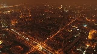 Фейерверки Москвы в Новый год, вид сверху