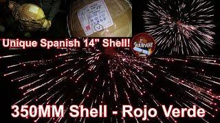 """350mm Shell - Rojo Verde - Caballer - Unique Spanish 14"""" Shell"""