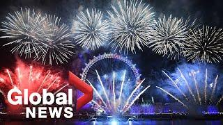 New Year's 2020: London Eye dazzles as England welcomes 2020