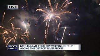61st annual Ford fireworks light up along the Detroit Riverfront