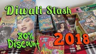 Diwali Firecracker Stash 2018 worth ₹13,000 | shots 240 | Cock Brand, sony fireworks, Etc