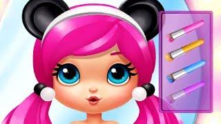 Fun Girl Care Game - Party Popteenies Surprise - Play Cute Baby Girl Makeup, Dress Up Party Games