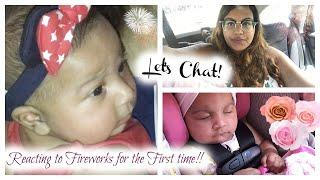 Baby Reacts to Fireworks for the firts time ever! | Relaxing Day