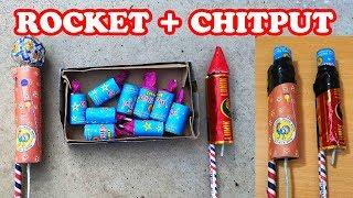 Lunik Rocket with Chitput Cracker - Experiment with Diwali Fireworks