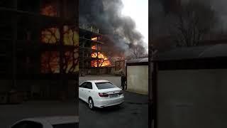 Пожар в Махачкале