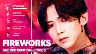 ATEEZ - Fireworks (I'm The One) Line Distribution + Lyrics Color Coded PATREON REQUESTED