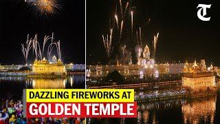 Amritsar: Fireworks at Golden Temple on the occasion of birth anniversary of Guru Ramdas