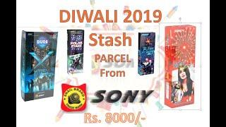 Diwali 2019 Stash|  Unpacking Parcel from SONY Fireworks |Rs.8000 Worth of Crackers