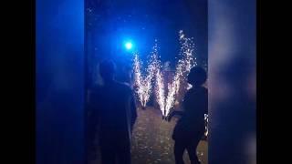 Пиротехнические фонтаны с холодным огнем на свадьбу | Морган Фейерверк Одесса