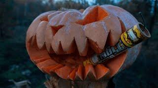 Взрываем петарды в ТЫКВЕ на Хэллоуин. Эксперимент с петардами на Halloween. Лайфхаки Корсар 12!