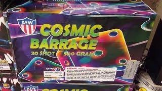 Fireworks Demo (500 Gram Cake) - Cosmic Barrage (AFW) - *NEW ITEM FOR 2018*