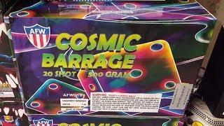 Fireworks Demo (500 Gram Cake) - Cosmic Barrage (AFW) - *NEW ITEM FOR 2018*