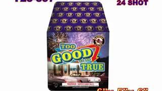 Too Good to Be True 24 Shot Cannon Fireworks (Coming in 2019) | Red Apple Fireworks
