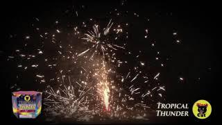 BC2207 Tropical Thunder Fountain by Black Cat Fireworks
