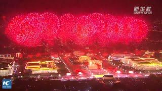 Breathtaking fireworks show celebrates new China's 70th anniversary